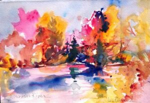 Wisconsin- River Fantasy watercolor painting class