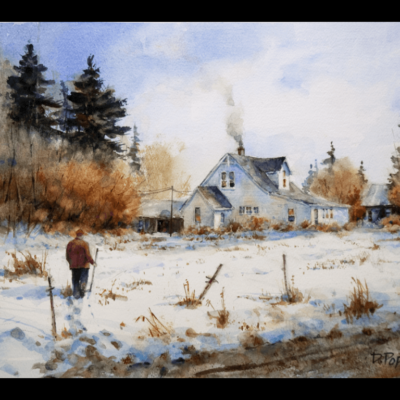 Watercolor Painting by Dale Popovich
