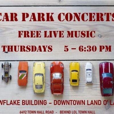 Car Park Concert with words