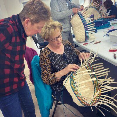 Basket weaving class teacher